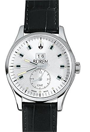 Schweizer Herrenuhr - BÜREN Grande Date GMT