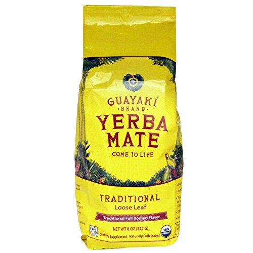 Guayaki Traditional Organic Yerba Mate, Loose Tea, 8 oz Bag