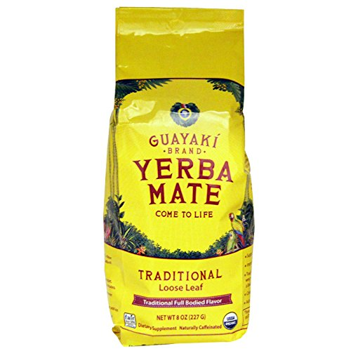 Guayaki Traditional Organic Yerba Mate, Loose Tea, 8 oz Bag