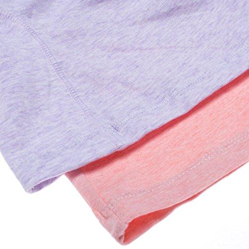 Intimate Portal Women Anti Chafing Maternity Pregnancy Boyshort Brief 2-Pk Pink Purple L by Intimate Portal (Image #6)