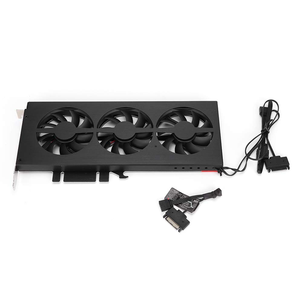 Pokerty Video Card Cooler, VF-1 Strong Magnesium Aluminum Case Graphics Card Cooler Video Card Heatsink Fan by Pokerty