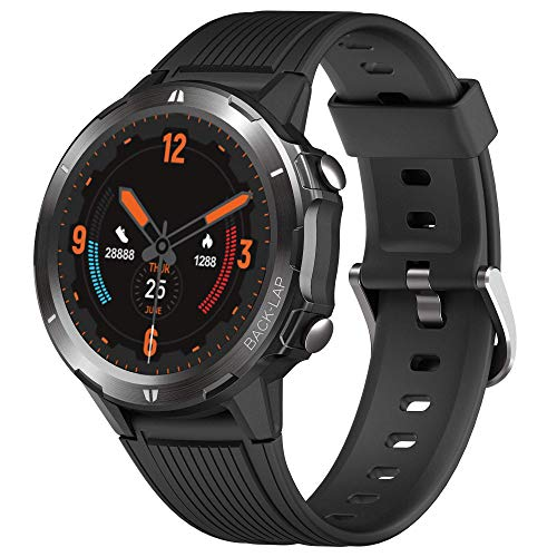 Smart Watch Fitness Tracker,Smart Watch for Android Phones,All-Day Activity Tracker with Heart Rate Sleep Monitor 5ATM Waterproof Touch Screen Step Counter for Men Women Sport,Black