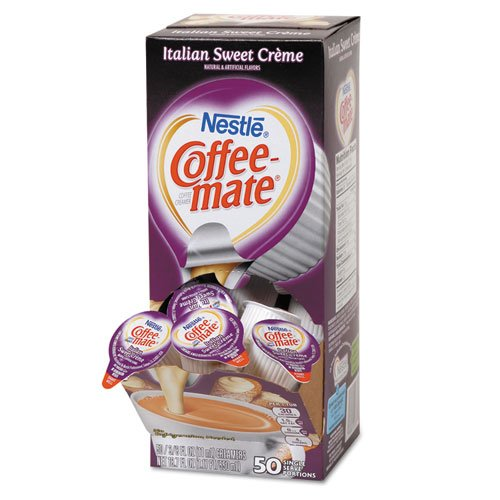 Coffee-mate - Liquid Coffee Creamer, Italian Sweet Creme, 0.375 oz Cups, 50/Box 84652 (DMi BX by Coffee-mate