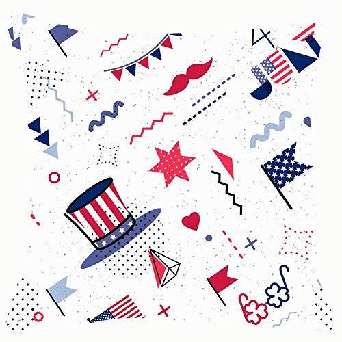4 July USA Independence dayholidays Home Decorative Throw Pillow Case Cushion Cover for Gift Home Couch Bed Car 18