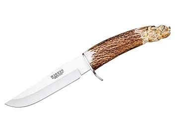 Joker Knives CT33 - Cuchillo DE Monte con PUÑO Ciervo ...
