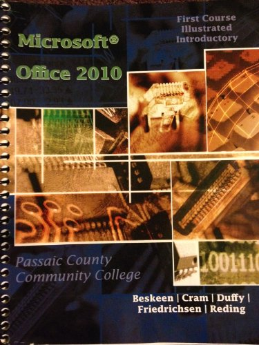 ACP Microsoft Office 2010: Illustrated Introductory First Course for Passaic County Community College