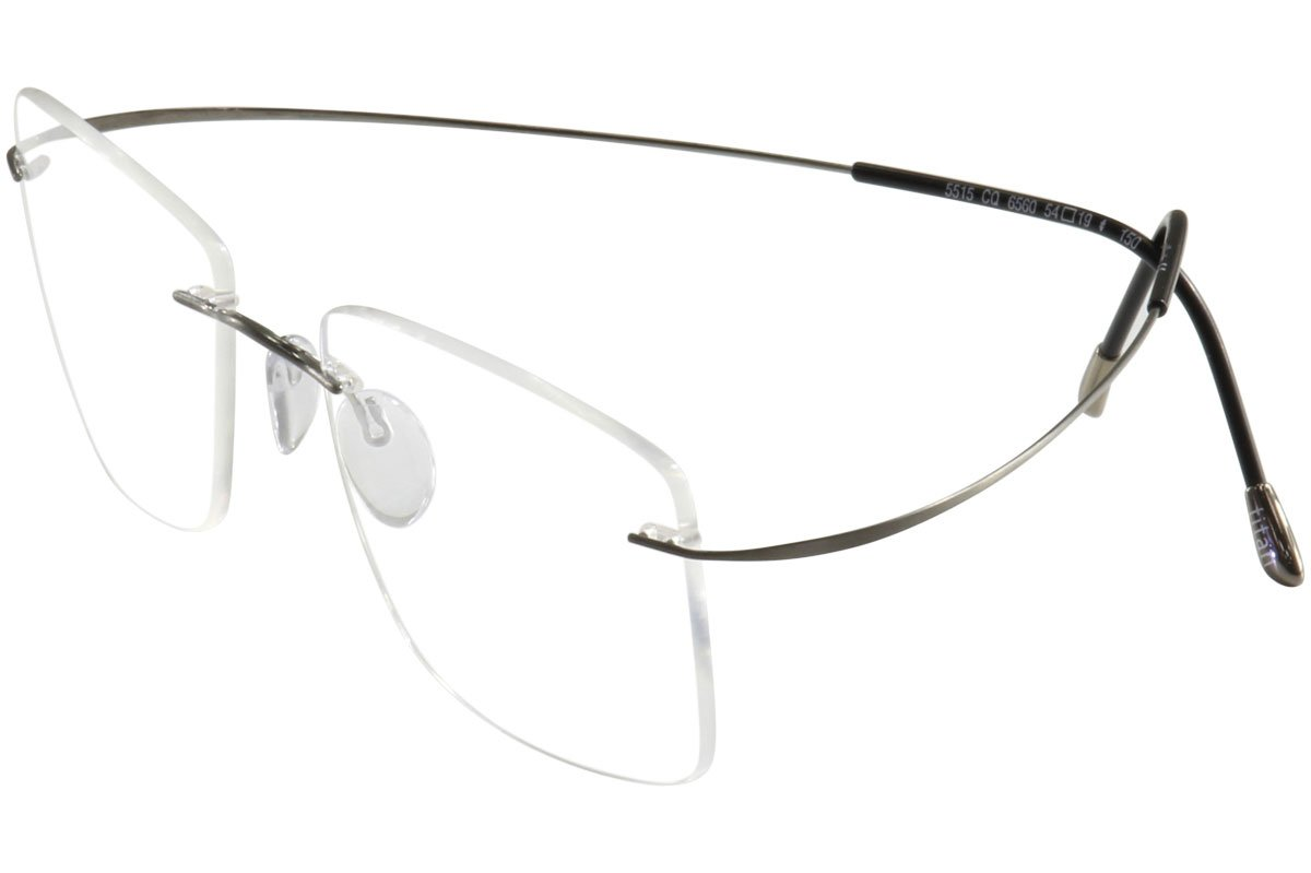 SILHOUETTE Chassis 7799 TMA The Must Collection 6107 Gunmetal Optical Eyeglasses Frame (Bridge:21 Temple:140)