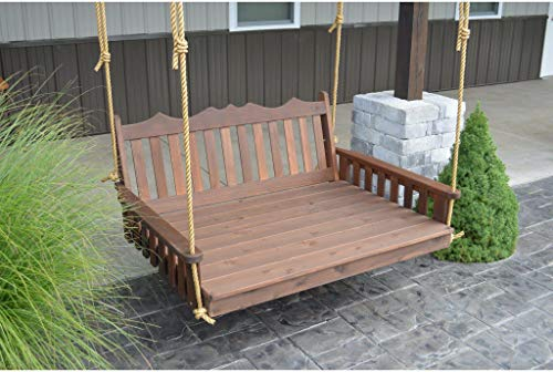 A & L Furniture Co. Western Red Cedar 4' Royal English Garden Swingbed - Ships Free in 5-7 Business Days
