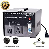 PowerBright Step Up & Down Transformer, Power ON/Off Switch, Can be Used in 110 Volt Countries and 220 Volt Countries, Convert from 220-240 Volt to 110-120 Volt AND from 110-120 Volt to 220-24 (1000W)