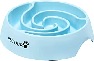 PETDURO Slow Feeder Dog Bowls for Large Dogs 4 Cups - Heavy Duty Dog Food Bowls for Medium Sized Dog - Maze Puzzle Slow Feeding Dog Bowl Accessories Stuff to Slow Down Eating for Fast Eaters