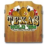 Texas Hold 'Em Wood Dart Cabinet Set