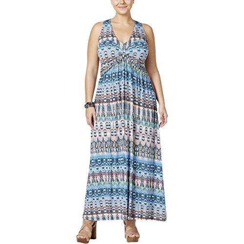 Jessica Simpson Women's Plus Size Emilia Maxi Dress, Island, 1X