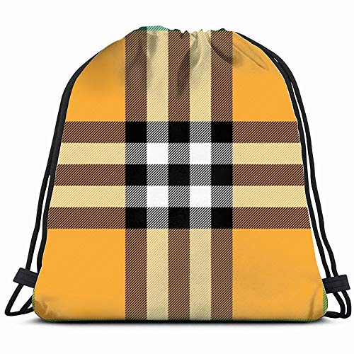 Halloween Plaid Illustrations Clip Art Transportation Drawstring Backpack Gym Sack Lightweight Bag Water Resistant Gym Backpack For Women&Men For Sports,Travelling,Hiking,Camping,Shopping Yoga -