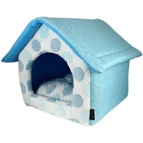 Parisian Pet Cotton Candy House Pet Bed, Blue
