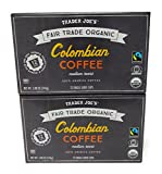 Cheap Trader Joe's Organic Columbian Coffee 12 single serve cups (Pack of 2)