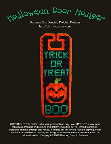Halloween Door Hanger: Plastic Canvas Pattern -