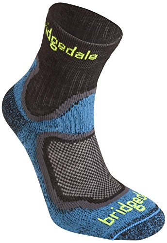 Bridgedale Men's Coolfusion Run Speed Trail Socks, Blue, Medium (Bridgedale Comfort Trail Sock)