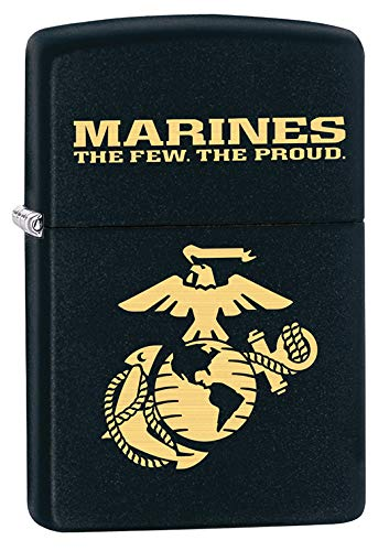 Zippo Lighter: USMC Marine Corps Logo - Black Matte - Zippo Marine Corps