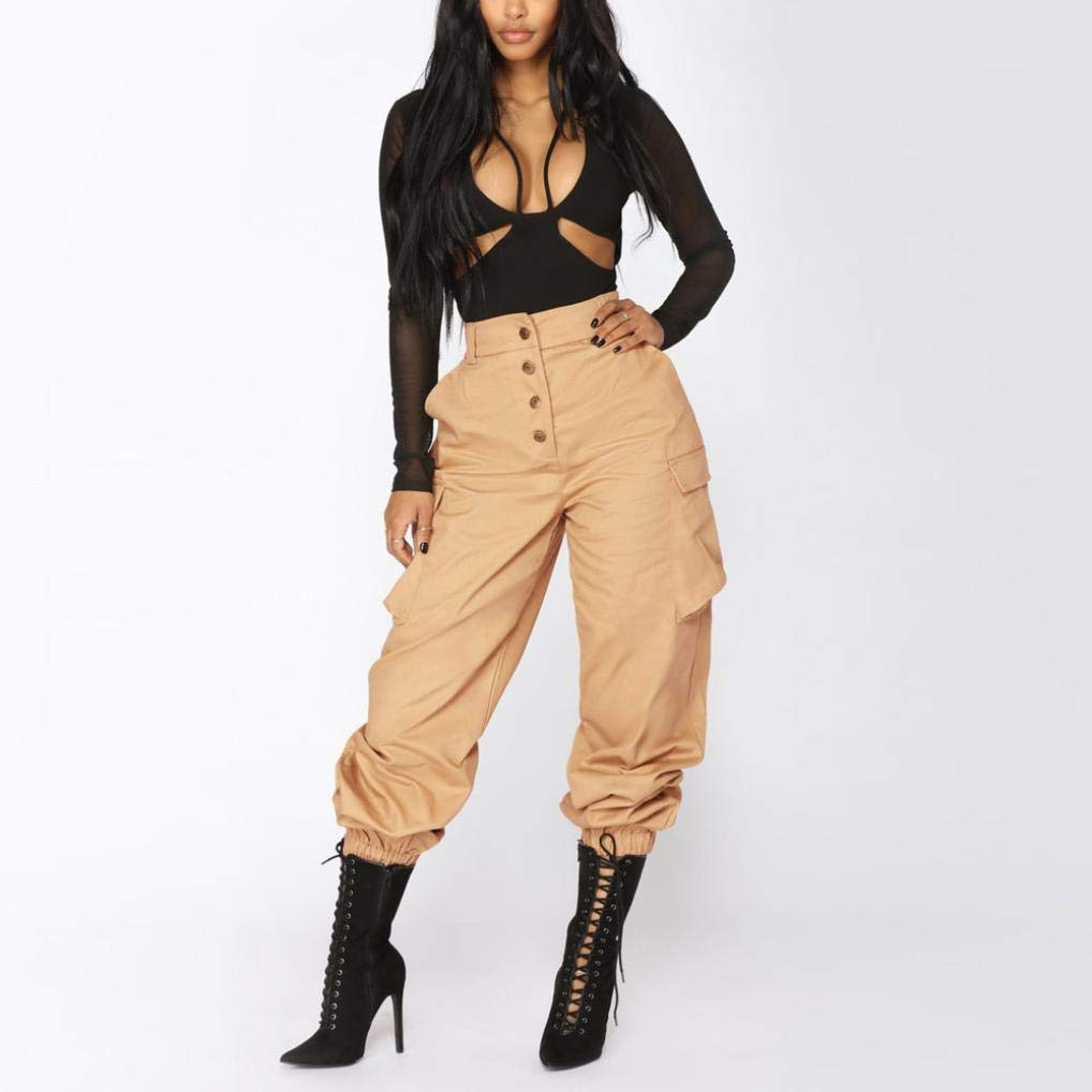 005957bc72b7 ... iYBUIA Summer Women High Waist Harem Pants Elastic Waist Stripe Casual  Pants 10088 ...