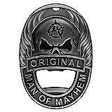 Man of Mayhem Badge Magnetic Bottle Opener With Rare Earth Fridge...