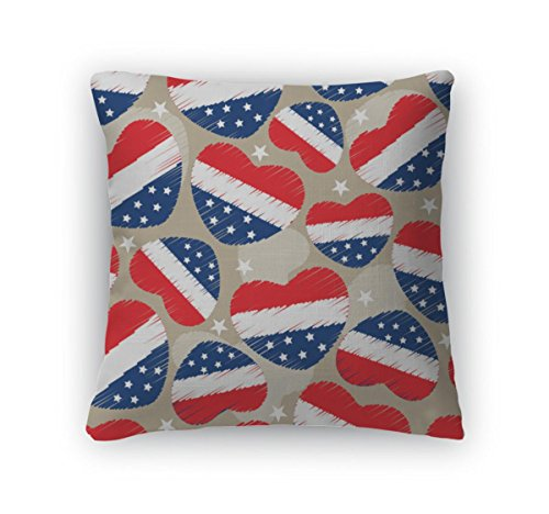 Gear New Pattern For 4th Of July, Americ Throw Pillow With