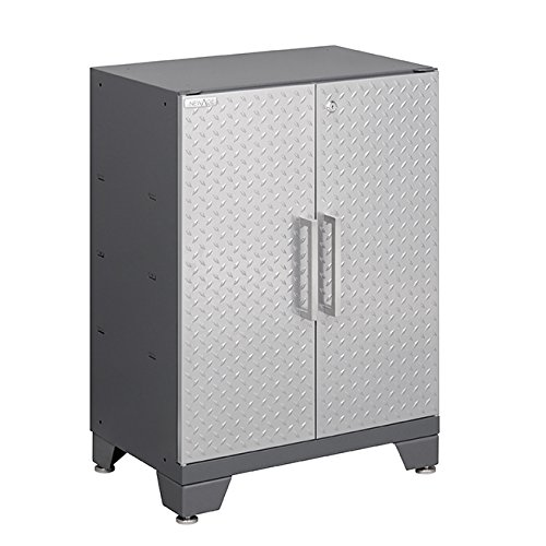 Newage Products Performance Diamond Plate Series Two Door Base Cabinet  30 By 24 By 16   Silver