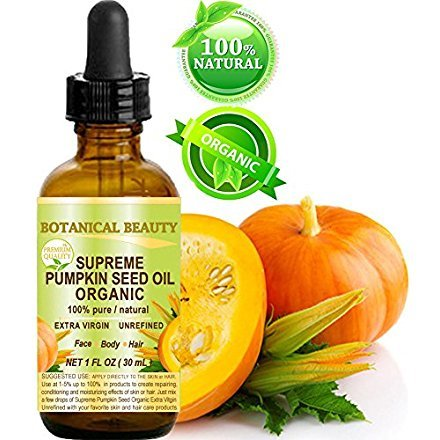 SUPREME ORGANIC PUMPKIN SEED OIL .100% Pure / EXTRA VIRGIN /