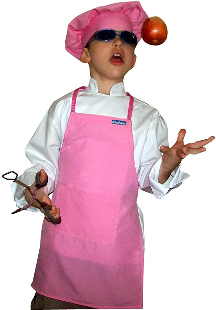 Great Party Favor or School Church Center Pocket Home etc. Beautiful Lot of 10 Child M Pink Aprons fits 8-13 yr olds Ultra Light Soft Fabric