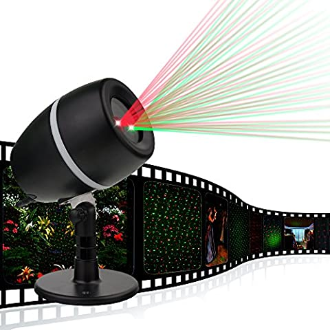 LED Landscape Garden Laser Light,LED Projector,Xmas Lights Light Red Green Christmas House Decorations Halloween Lights Outdoor Lamp Garden Lights Waterproof Outdoor Night Decor Light(Star Show)
