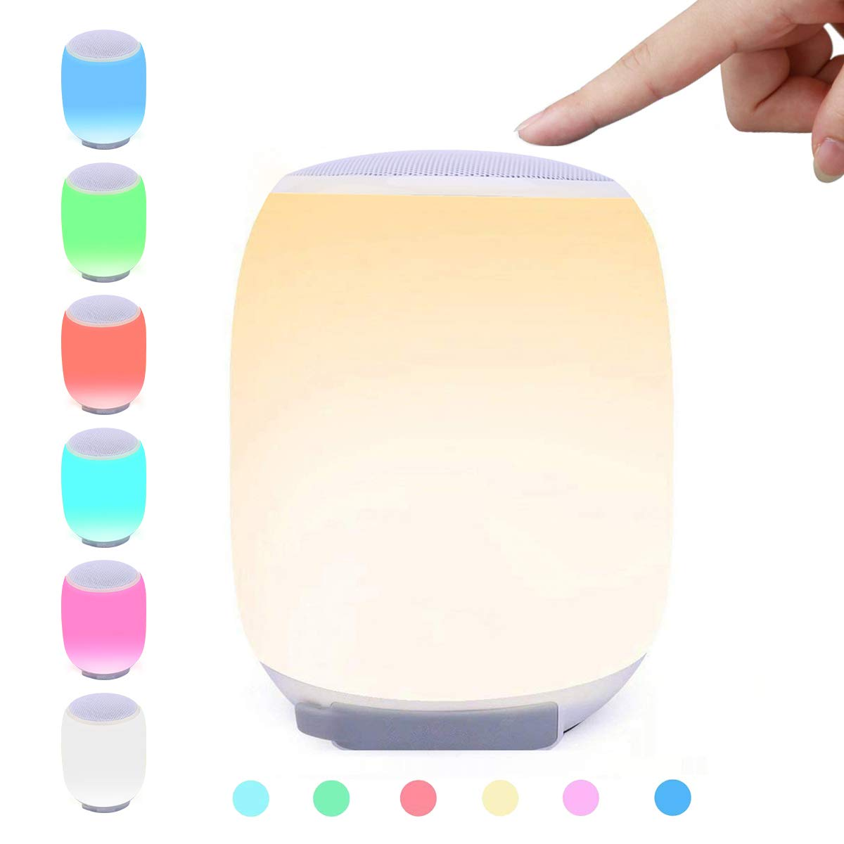 LED Bluetooth Speaker, ieGeek Portable Wireless Speaker Night Light w/ 6000mAh Power Bank, Color Changing Bedside Lamp Table Lamp Smart Touch Mood Lamp MP3 Player Waterproof for Party/Bedroom/Outdoor