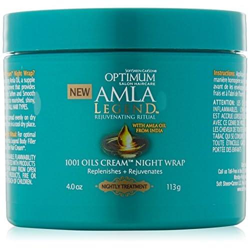 Softsheen Carson Optimum Amla Legend 1001 Oils Cream Night Wrap, 4 oz. good