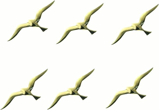 linoows M/öwe als Wanddeko Wandh/änger M/öwe aus Messing Spannweite 13 cm