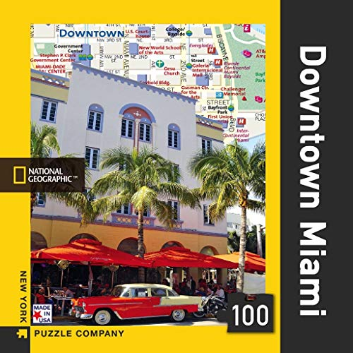 New York Puzzle Company - National Geographic Downtown Miami Mini - 100 Piece Jigsaw Puzzle