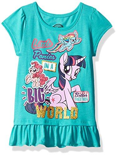 My Little Pony Toddler Girls' Short Sleeve Pullover, Light Blue, 2T -