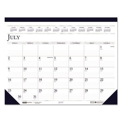 House of Doolittle 2018-2019 Monthly Desk Pad Calendar, Academic, Classic, 22 x 17 inches, July - August (HOD155-19)