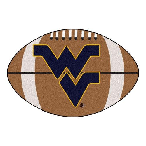 (FANMATS NCAA West Virginia University Mountaineers Nylon Face Football Rug)