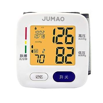 Tensiómetro de muñeca,Portátil Totalmente Automático Presión Arterial Y Detección De Pulso Arrítmico, Gran Pantalla LCD,Memoria (2 * 90): Amazon.es: Hogar