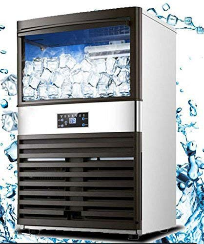 (VEVOR Ice Cube Making Machine Intelligent 300W Commercial Ice Maker 45KG/100LBS Per 24H Auto Clean 40 Cases for Bars Coffee Shops Hotels(45KG/100LBS))