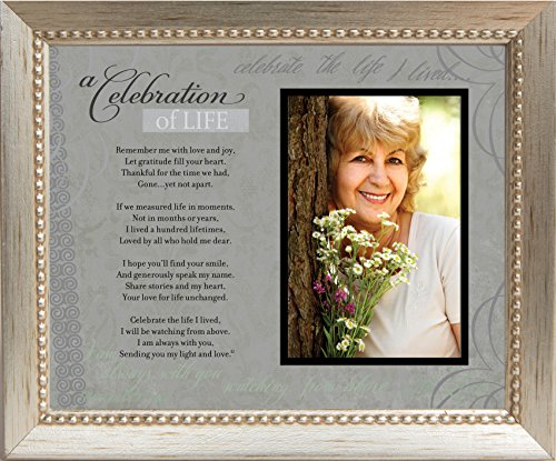 Memorial/Remembrance Photo Frame With Inspirational A Celebration Of Life Poem