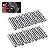 Fansport 20PCS Wheel Bolts Universal Small Wheel Hub Bolts Wheel Lug Bolts Wheel Accessories