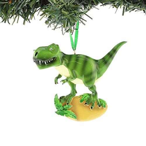 (Kurt Adler Dinosaur Resin Personalizable Ornament Gift Boxed (T-Rex Green)