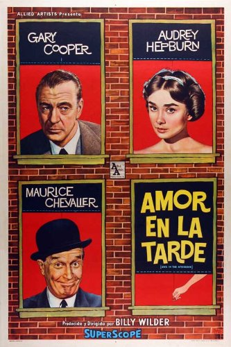 Amazon com: Love in the Afternoon Movie Poster (27 x 40