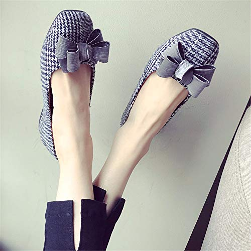 Moda Zapatos Ocasional EU UE del Arco de 38 41 diseñan Planas Las señoras los la de Zapatos Tela de Boca Solos señoras Baja de la Las la FLYRCX qZ6Bnxw4w