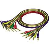 ah Cables ProCab REF790 - Cavo patch con connettori jack stereo da 6,3 mm su connettori jack stereo ad angolo retto da 6,3 mm, 0,9 m