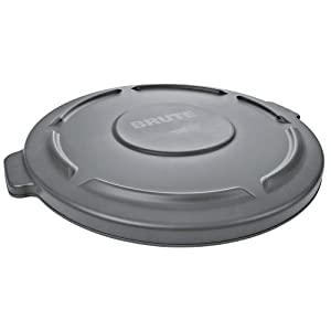 Retail Resource 260900GRAY Flat Trash Can Lid for 10 Gallon Rubbermaid Brute, Gray