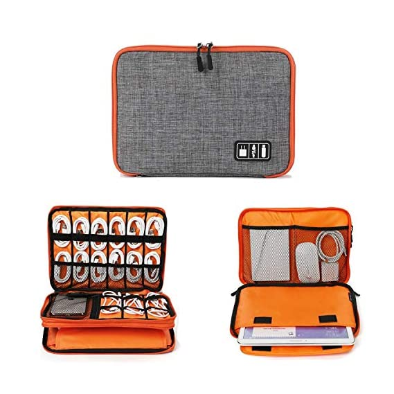 SKUDGEAR Multi-Purpose Digital Electronic Accessories Organizer Toiletry Cosmetic Makeup Kit Storage Case Travel Bag (Grey)