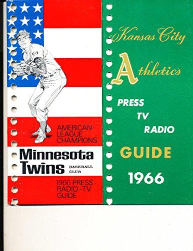 Minnesota Twins 1966 Press TV Media Guide binder edition (only one - 1966 Twins Minnesota