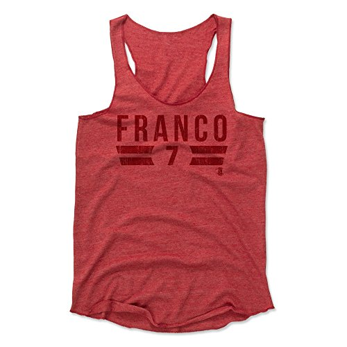 - 500 LEVEL Maikel Franco Women's Tank Top Large Red - Philadelphia Baseball Women's Apparel - Maikel Franco Font R