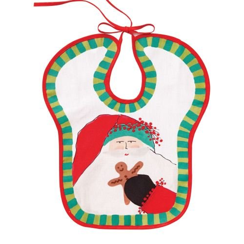 (Vietri Old St. Nick Baby Bib, Absorbent Handpainted Cloth)
