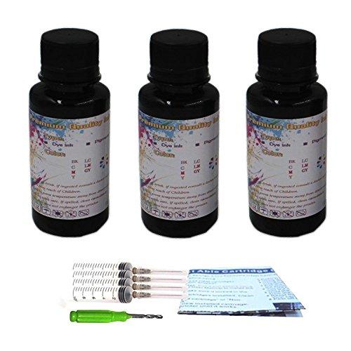 1110 Series Printer (INKMATE 100ml Dye Ink Refill Kit for 63 63XL for ENVY Series 4520 5540 Deskjet Series 1110 2130 3630 3632 (3x100ml))